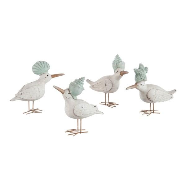 Sada 4 dekorací Bird Shell