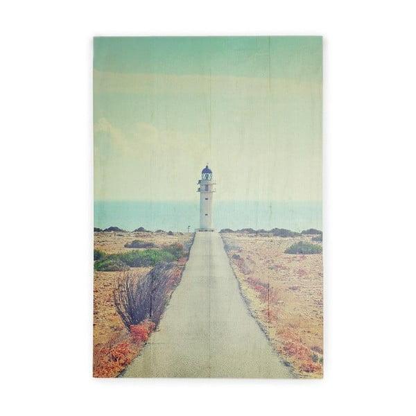 Tablica ścienna z drewna sosnowego Really Nice Things Lighthouse, 40x60 cm