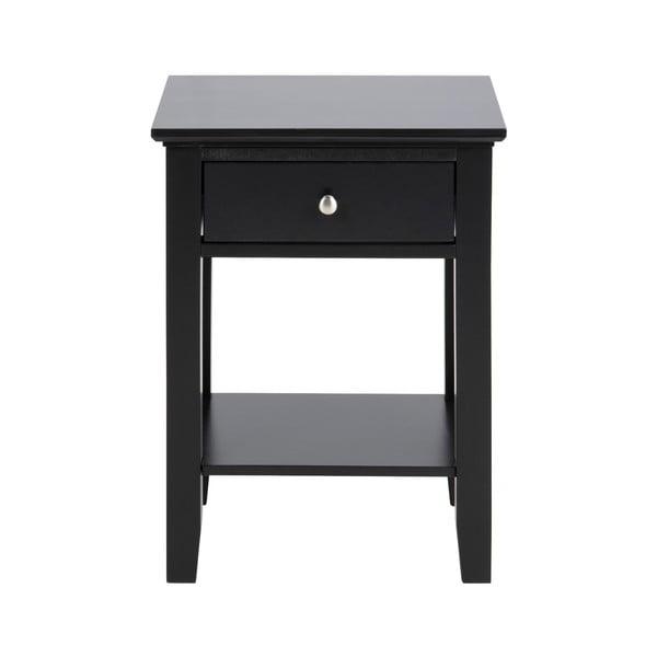 Čierny nočný stolík s 1 zásuvkou Actona Linnea