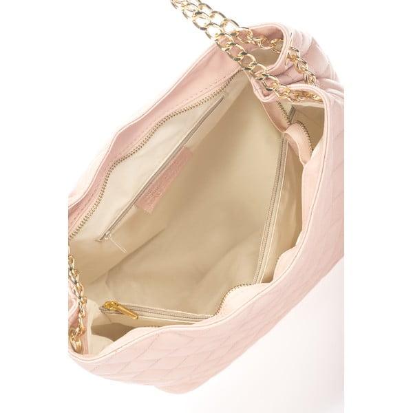 Kožená kabelka Uriena, růžová