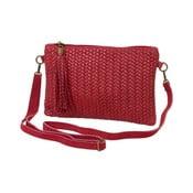 Tmavě červená kabelka z pravé kůže Andrea Cardone Michele