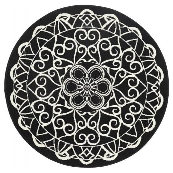 Czarny dywan okrągły Zala Living Capri, ø 140 cm