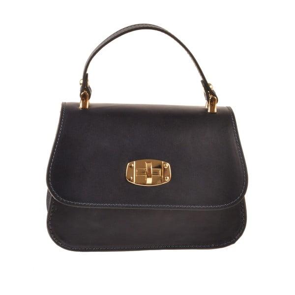 Kožená kabelka Flaux, tmavě modrá