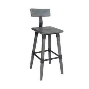 Šedá barová židle VIDA Living Hunter, výška 93 cm
