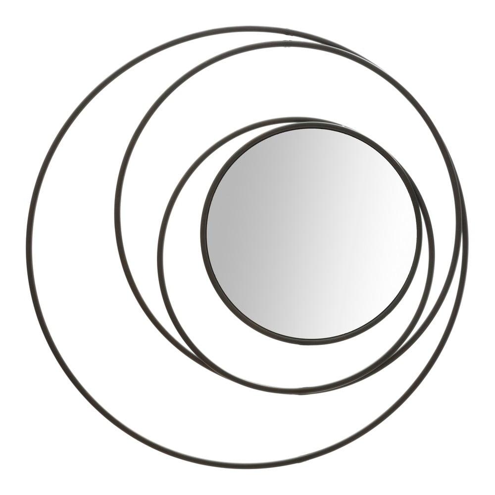 Nástěnné zrcadlo Mauro Ferretti Dark, ø 80 cm