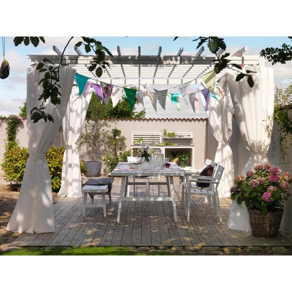 Bílá zahradní lavice Brafab Calmar