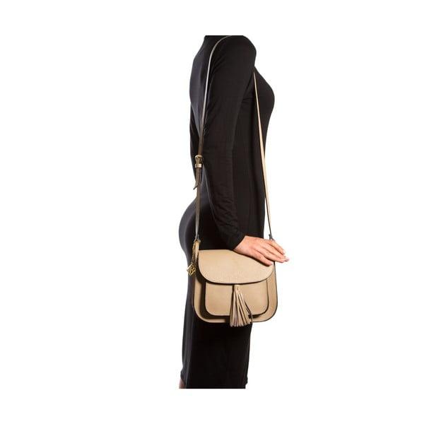 Kožená kabelka Isabella Rhea 1155, béžová
