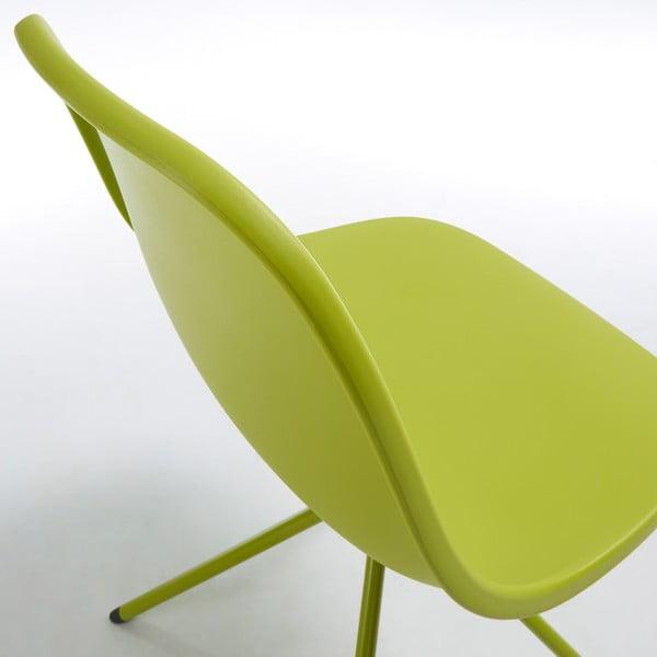 Sada 2 zelených jídelních židlí La Forma Mint