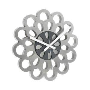 Hodiny Flower, grey