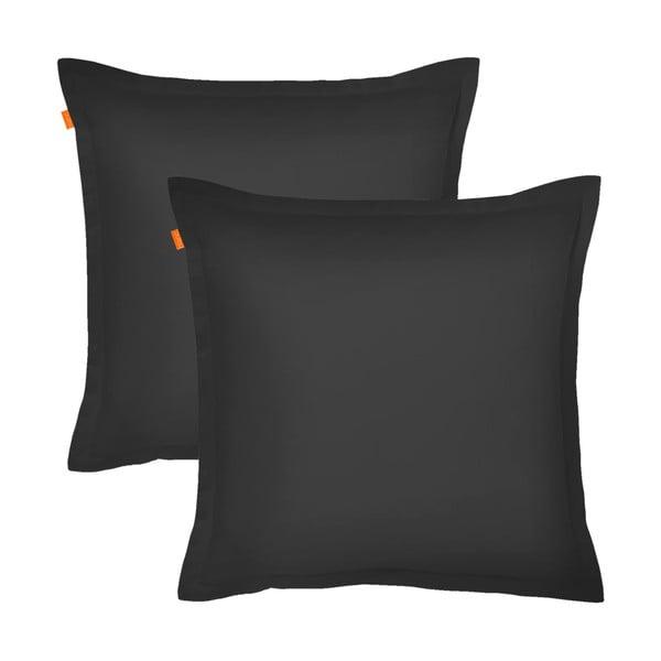 Sada 2 černých povlaků na polštář HF Living Basic, 60x60cm