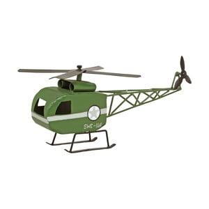 Decorațiune din metal Strömshaga, elicopter, verde