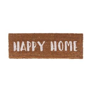 Rohožka s bílým nápisem PT LIVING Happy Home, 26x75cm