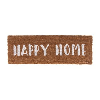 Preș PT LIVING Happy Home, 26 x 75 cm, scris alb de la PT LIVING