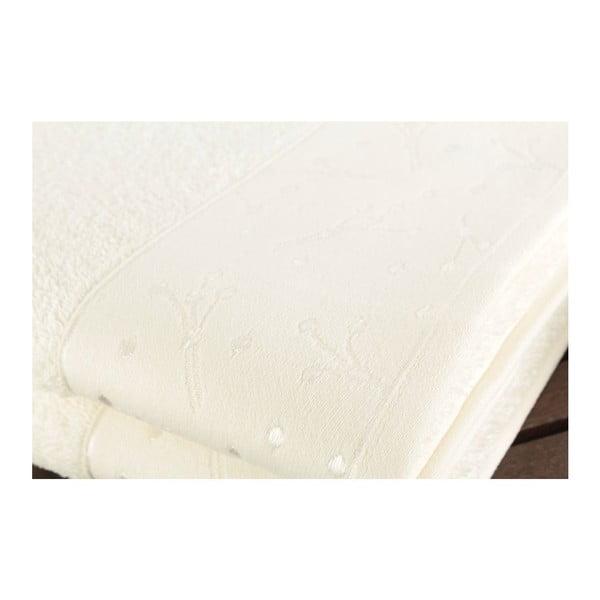 Sada 2 bílých ručníků Tomur Ecru, 50x90cm