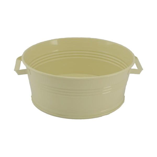 Kovový kbelík s uchy Kovotvar, 10x27 cm, smetanový