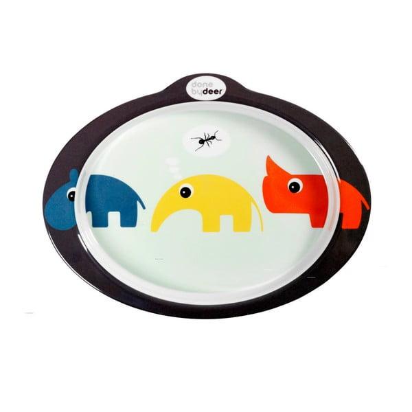 Protiskluzový talíř s úchyty Zoopreme, modrý