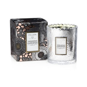 Lumânare parfumată Voluspa Limited Edition, aromă de gardenie, zambilă de noapte și cuișoare, 50 ore