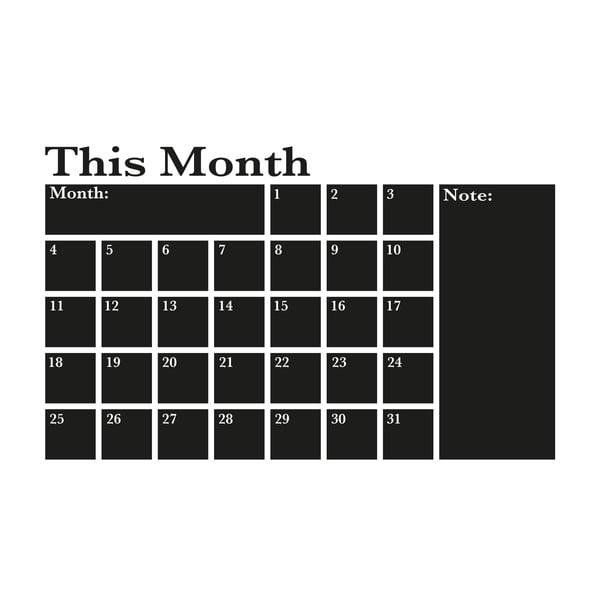 Samolepka na stěnu This month