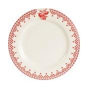 Farfurie Comptoir de Famille Damier, 22 cm, roșu - alb