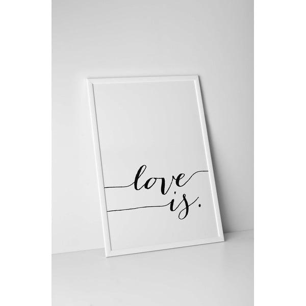 Autorský plakát Love Is, vel. A4