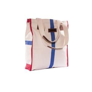 Plátěná taška Anna Bag, červená/modrá