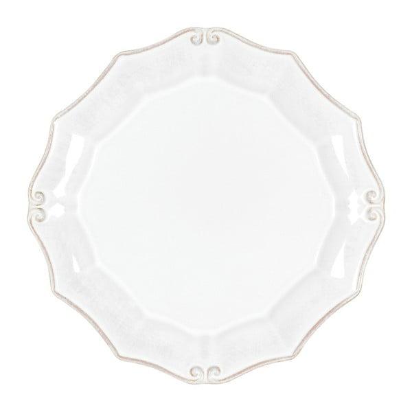 Bílý kameninový dezertní talíř Casafina Vintage Port, délka21cm