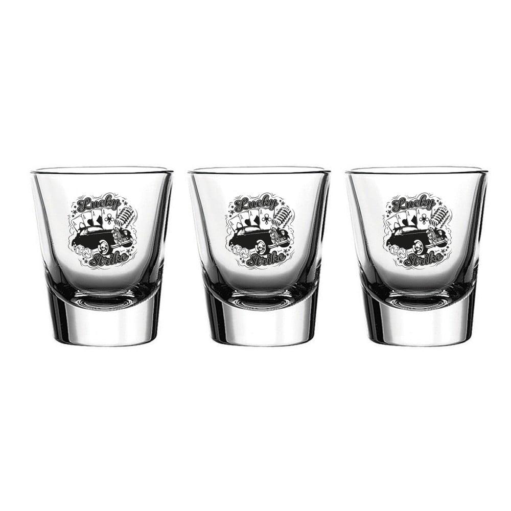 Sada 3 sklenic Vivas Shot Strike, 60 ml