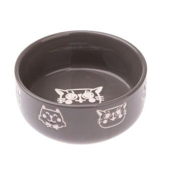Bol din ceramică pentru pisici Dakls, 300 ml, gri imagine