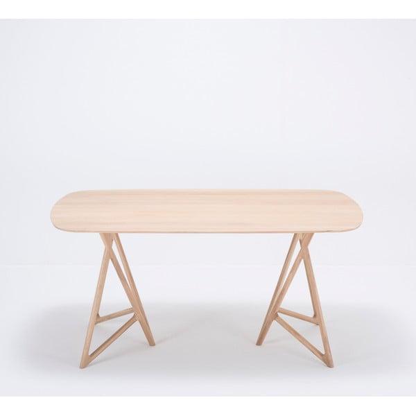 Jídelní stůl z masivního dubového dřeva Gazzda Koza, 160x90cm