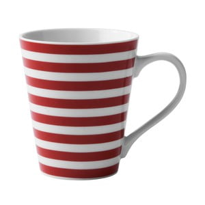 Porcelánový hrnek Red Striped
