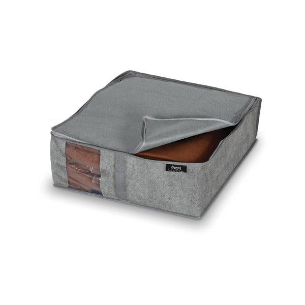 Šedý úložný box Domopak Stone, 45x40cm