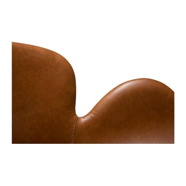 Koňakově hnědá jídelní židle z eko kůže s područkami DAN–FORM Denmark Gaia