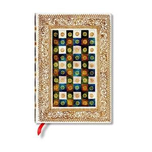 Caiet cu copertă tare Paperblanks Aureo, 13 x 18 cm