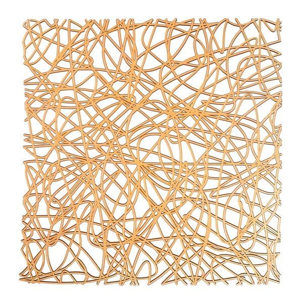 Pomarańczowa podkładka do zlewu Wenko Sink Mat Cross, 30,5x30,5 cm