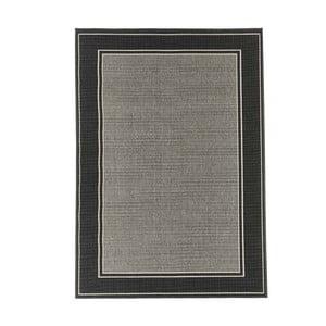 Šedý vysoce odolný koberec Webtappeti Frame,133x190cm