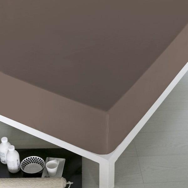 Prostěradlo Home Brown, 160x200 cm