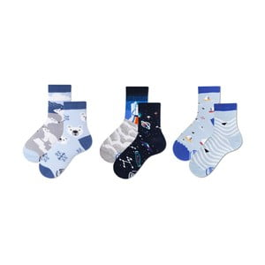 Sada 3 párů dětských ponožek v dárkovém balení Many Mornings Bear, vel. 23–26