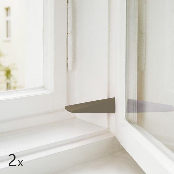 Sada 2 dveřních/okenních zarážek, hnědo-šedé