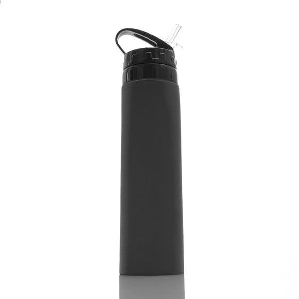 Černá silikonová sportovní lahev InnovaGoods Hidralyne