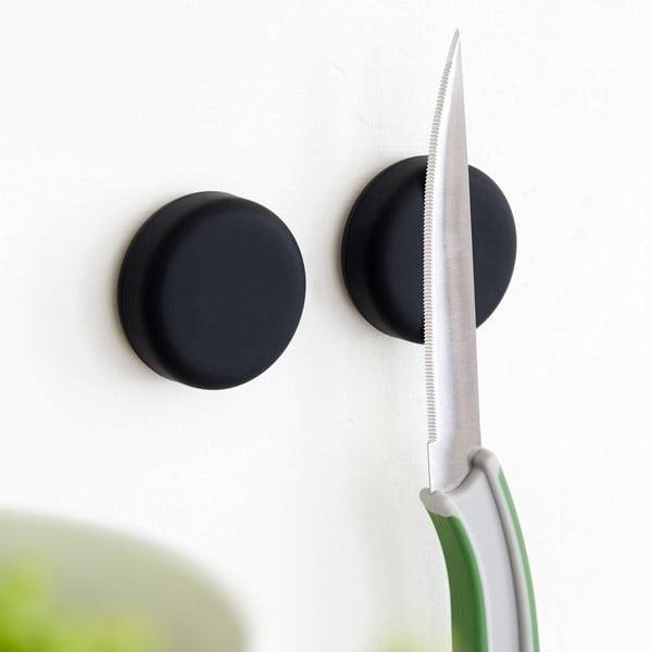 Sada 2 magnetických držáků Steel Function Round Black