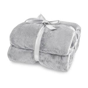 Světle šedá deka z mikrovlákna DecoKing Mic, 70x150cm