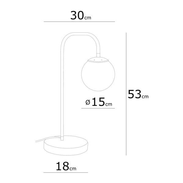 Veioză cu detalii portocalii Lanty Table Lamp, înălțime 53 cm