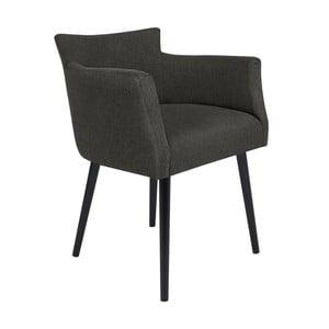 Tmavě šedá židle s područkami Windsor & Co Sofas Gemini