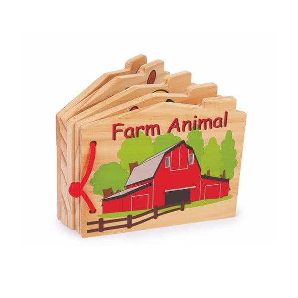 Dřevěná dětská knížka Legler Farm