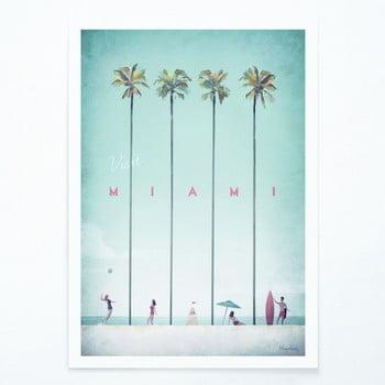 Poster Travelposter Miami, A2 imagine