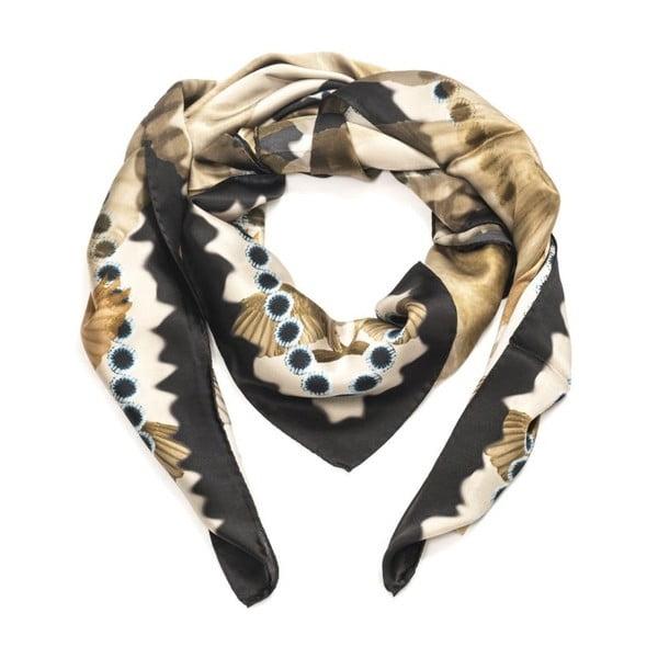 Šátek Edda Black, 130x130 cm