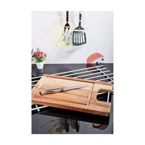 Krájecí prkénko s ocelovým uchem z akátového dřeva Kosova, 35x23cm