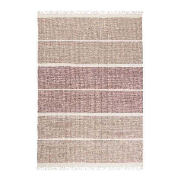 Růžový ručně tkaný vlněný koberec Linie Design Reita, 140x200cm