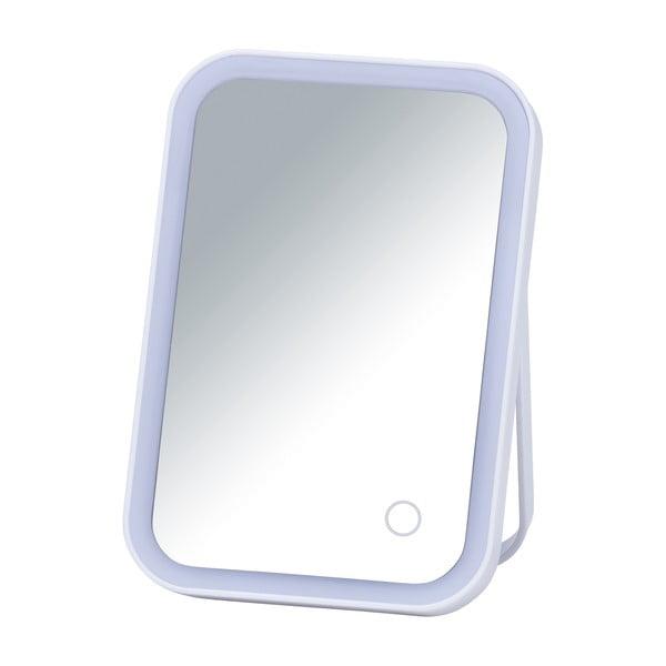 Oglindă cosmetică cu ancadrament LED Wenko Arizona, alb