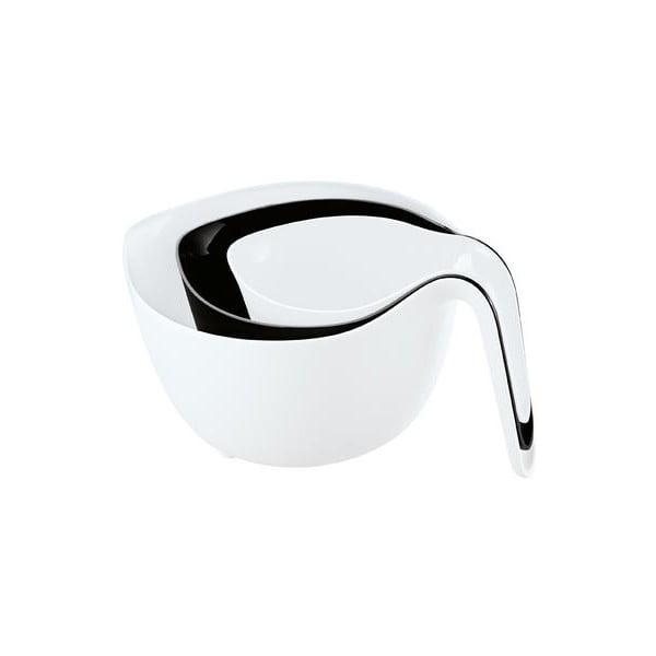 MIXXX mísa na míchání set 3 ks, bílá/černá